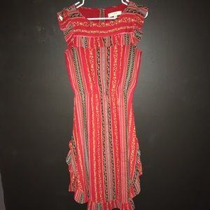 Floral Stripe Midi Dress